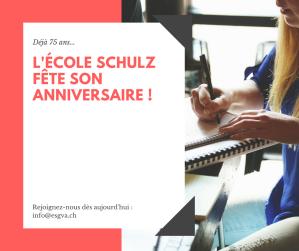 Ecole Schulz 75 ans